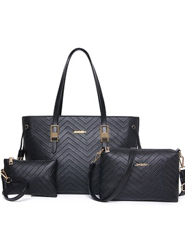 Fashion V Stitching Plain Bag Sets
