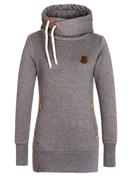 Casual Multi Color Mid-Length Hoodie
