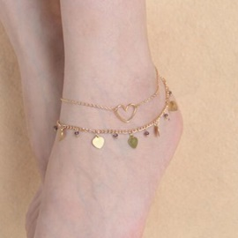 Beautiful Multi-layer Heart Shape Anklet