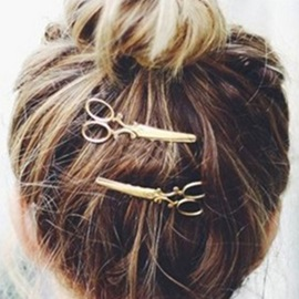 Lovely Small Scissors Shape Women's Hairpin