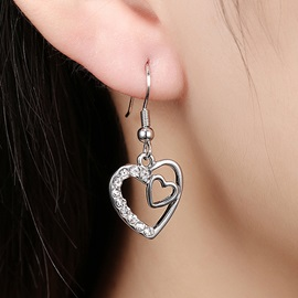 Heart-Shaped Pendant Earrings