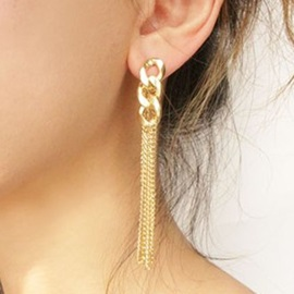 Fashion Golden Chain Pendant Earrings
