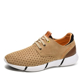 Breathable Round Toe Lace-Up Men's Sneakers