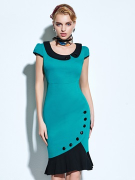 Latest U Neckline Mermaid Bodycon Dress