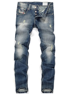 Denim Men's Hole Trousers