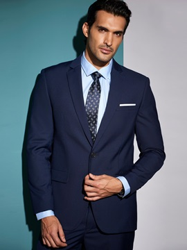 Single Breasted Men's Two-Piece Suit