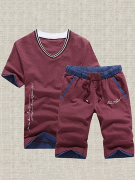 Letter Printed Men's Outfits with