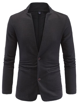Winkle Double-Button Men's Collarless Bazer