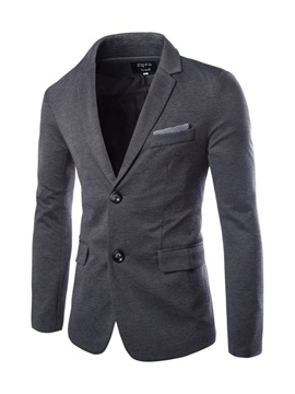 Notched Lapel Two Button Men's Casual Blazer