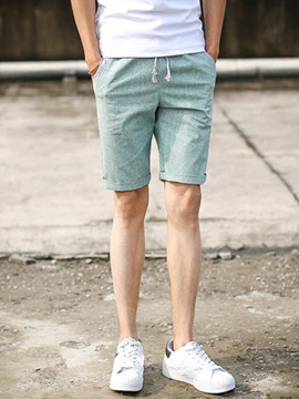 Pockets Patched Men's Knee Length Shorts