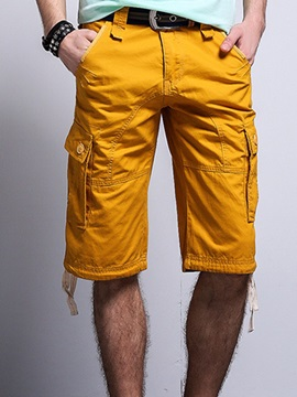 Multi-Pocket Loose Fit Men's Casual Shorts