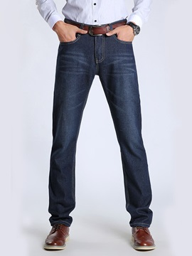 Men's Slim Pattern Straight Leg Jeans