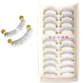 10 Pairs Black Handmade Natural Faux Eyelashes