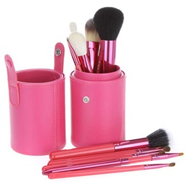 Fashion 12 Pcs Makeup Brush Set with PU Roller Case