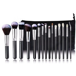 High Quality 15 Pieces Black Cosmetic Brush