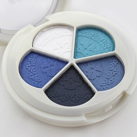 5 Colors Eyeshadow Cosmetic Palette With Mirror Sponge