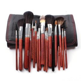 18Pcs Wolf Hair Professional Cosmetic Brush Set