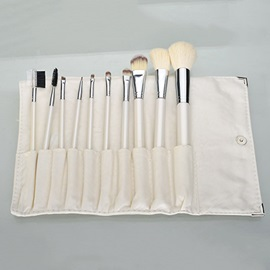 10 Pcs Wood Handle Professional Brush Set