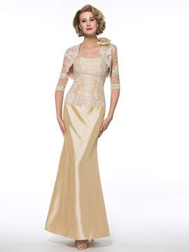 Strapless Trumpet Lace Mother of the Bride Dress with Half Sleeve Jacket & Free Shipping Sale 2012