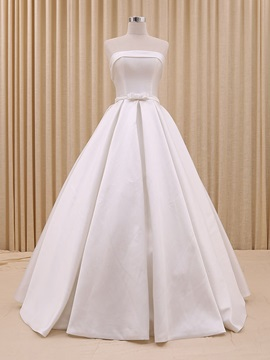 Floor Length A-Line Strapless Bowknot Wedding Dress & Free Shipping Sale under 500
