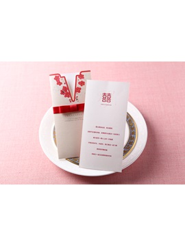Wrap & Pocket Invitation Cards With Ribbons (20 Pieces One Set)