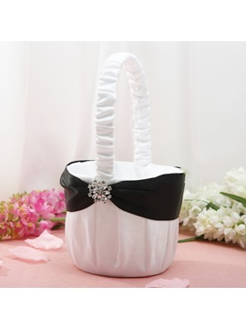Classic Flower Basket in Satin