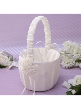 Vigorous Flower Basket in Satin