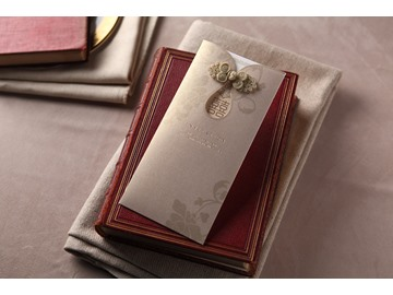 Vintage Wrap & Pocket Invitation Cards (20 Pieces One Set)