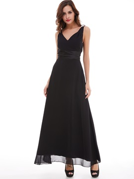 Cheap Straps Crystal A-Line Long Evening Dress & casual Under $100
