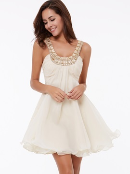 Delicate Straps Beading Short Homecoming Dress & affordable Under $100