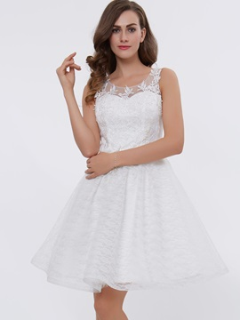 Scoop Neck Appliques Short Homecoming Dress & Under $100 from china