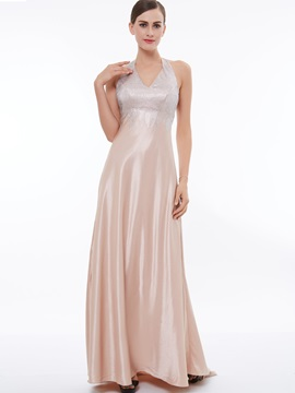 Shiny Halter Beading A-Line Evening Dress & Under $100 online