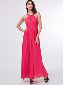 Casual Halter Ruched Hollow Long Prom Dress & Under $100 online