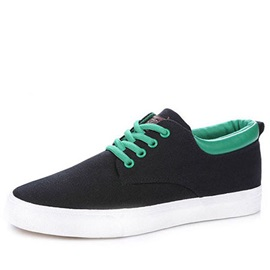Lace-Up Round Toe Canvas Shoes for Men