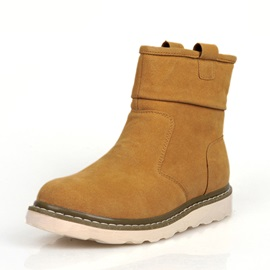 Solid Color Flat Heel Snow Boots
