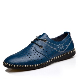 Thread Air-Permeable Lace-Up Men's Shoes