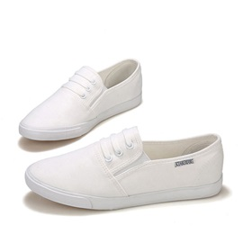 Round Toe Slip-On Canvas Shoes