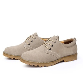 Suede Lace-Up Men's Oxfords