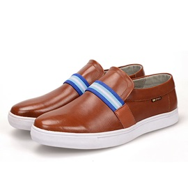 Striped Slip-On PU Men's Loafers