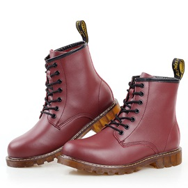 Noble Round Toe Lace-Up Martin Boots