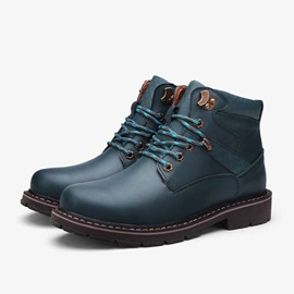 European Round Toe Front Lace-Up Martin Boots