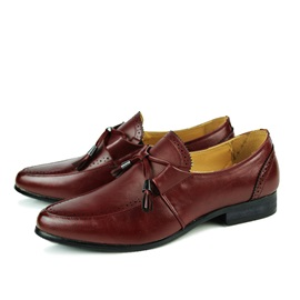Pointed Toe Lace-Up Men's Brogue Shoes