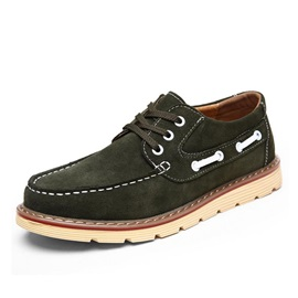 Suede Lace-Up Men's Boat Shoes