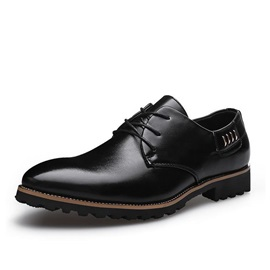 Pointed Toe Front Lace-Up Men's Dress Shoes