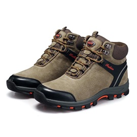 Suede Mid-Cut Lace-Up Men's Hiking Boots
