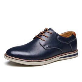 PU Lace-Up Front Men's Commuter Shoes