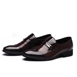 PU Cape Toe Slip-On Dress Shoes
