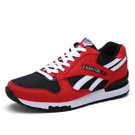 Breathable Lace-Up Men's Running Shoes