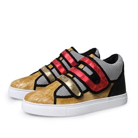 Sequins Round Toe Velcro Skater Shoes