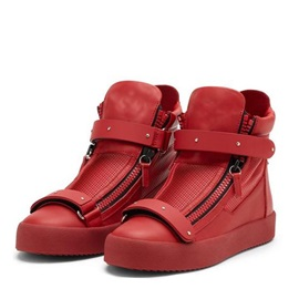 Breathable PU Oblique Zipper Sneaker